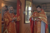 Архипастырское богослужение в престольный праздник в храме во имя муч. царицы Александры в Салавате