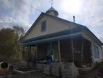 Возведение стен в храме Архистратига Божия Михаила села Базлык