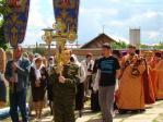 Казаки на праздничном архипастырском Богослужении в Иоанно-Предтеченском соборном храме г. Кумертау