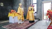 Архипастырское богослужение в храме святых Первоверховных апостолов Петра и Павла с. Петро-Павлово