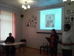 Иерей Пётр Костенецкий на встрече в библиотеке