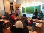 Очередное посещение священником родительского собрания по выбору модуля ОРКСЭ в Чишмах