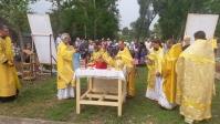 Архипастырское богослужение под открытым небом в селе Шланлы