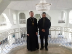 """Штатный клирик Успенского кафедрального собора посетил соборный комплекс мечети """"Аннаби"""""""