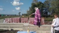 Преосвященнейший епископ Николай совершил чин освящения закладного камня в основание Введенского храма в Бердышле