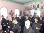 В Великую пятницу в храме при ФКУ ИК-№4 состоялось Таинство Елеосвящения (соборование)