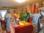Владыка Николай совершил Литургию в храме при ИК- №19