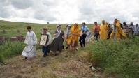 Преосвященнейший Владыка Николай совершил Божественную литургию в строящемся храме с. Петро-Павлово