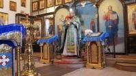Богослужение в храме в честь Ксении Петербургской в селе Новоселки Федоровского района