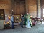 Архипастырское богослужение в селе Манеево