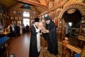В канун праздника Вознесения Господня Преосвященнейший Владыка Николай возглавил Всенощное бдение в Богородицном храме в Мусино.