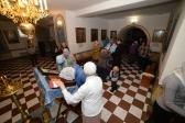 Епископ Николай совершил утреню с акафистом Воскресению Христову в Свято-Троицком храме в города Ишимбай
