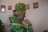 Преосвященнейший епископ Николай совершил Литургию в часовне на о.Аслыкуль