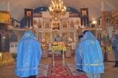 Богослужение епископа Николая в Никольском храме с. Раевский