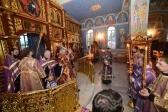 Епископ Николай совершил Всенощное бдение и чин Воздвижения Креста Господня в Успенском кафедральном соборе