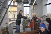 Дети Воскресной школы Успенского кафедрального собора звонят в колокола
