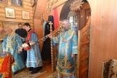 """Епископ Николай совершил Литургию в храме в честь иконы Божией Матери именуемой """"Неупиваемая Чаша"""" в Мусино"""