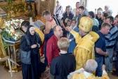 Архипастырское служение в храме на скиту блаженной Варвары в Скворчихе