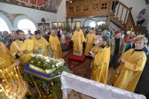 Епископ Николай возглавил Литургию в скиту блаженной Варвары Скворчихинской