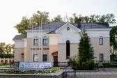 Установка флагштоков на территории Успенского кафедрального собора города Салавата