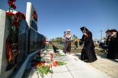 Епископ Николай принял участие в церемонии открытия памятника погибшим в ВОВ жителям с.Столяровка