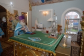 Архипастырь совершил Божественную литургию в Варваринском храме на скиту в с.Скворчиха, по окончании которой возглавил второй день XXVI Ежегодного Крестного хода Башкортостанской митрополии