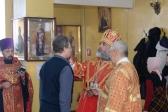 Преосвященнейший епископ Николай совершил всенощное бдение в Михаило-Архангельском храме с. Зирган