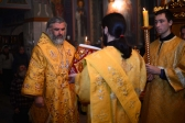 Епископ Николай совершил утреню с акафистом святителю Иоанну Златоусту в Успенском кафедральном соборе