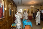Епископ Николай совершил Божественную литургию в Георгиевской часовне на старом кладбище в 116-м квартале
