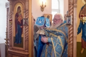 Архипастырское служение в Благовещенском храме с. Столяровка Мелеузовского района