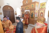 Владыка Николай совершил Литургию в Благовещенском храме в Столяровке