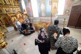Преосвященнейший епископ Николай совершил вечерню с акафистом Божественным Страстям Христовым в Успенском кафедральном соборе города Салават