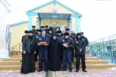"""Преосвященнейший епископ Николай посетил храм в честь иконы Божией Матери """"Взыскание погибших"""" в ИК-4"""