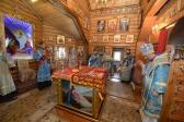 """Епископ Николай совершил Литургию в храме в честь иконы Божией Матери """"Неупиваемая Чаша"""" г. Салавата"""