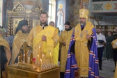 Пресвященнейший Владыка Николай совершил Благодарственный молебен  и заупокойную литию по усопшим основателям, строителям и жителям г. Салавата