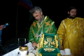 Архипастырское богослужение в расположение I-го епархиального молодёжного туристического фестиваля