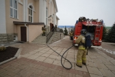 Противопожарное учение в Успенском кафедральном соборе