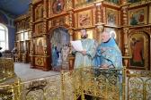 В праздник Успения Божией Матери Преосвященнейший епископ Николай совершил литургию в Успенском кафедральном соборе в Салавате