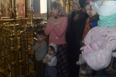 В четверг Страстной седмицы Преосвященнейший епископ Николай совершил Литургию в Успенском кафедральном соборе