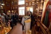 Преосвященнейший епископ Николай совершил Божественную литургию в честь престольного праздника в Богородичном храме в Мусино.