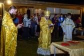 Владыка Николай совершил ночную Литургию в расположении второго ежегодного епархиального туристического слета