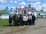 Паломники села Чуваш-Карамалы в Покровском мужском монастыре в Духов день