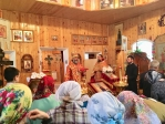 Преосвященнейший епископ Николай совершил Литургию в храме во имя муч.Вонифатия в с.Михайловка