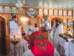 Преосвященнейший епископ Николай совершил чин Великого освящения Богородице-Табынского храма и Литургию в новоосвященном храме