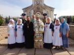 Преосвященнейший Николай посвятил трех добровольцев в сестры милосердия епархиального сестричества в честь св. блж. Варвары Скворчихинской