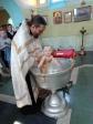Крещение младенца в Кризисном центре «Мать и дитя» в Чишмах