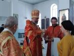 Епископ Николай совершил утреню с чтением акафиста Иоанну Предтече в Богородице-Казанском храме г.Мелеуза