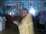 Молебен перед началом работы по благоустройству храма в селе Степановка