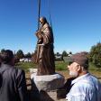 Установка памятника свт. Василию Великому
