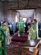 Преосвященнейший епископ Николай совершил Литургию и молебное пение в строящемся храме в Аксеново